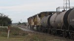 UP 4718 & 5215 Leads a loaded molten sulfur train Southbound