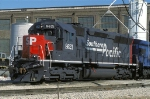 SP 8621, EMD SD45, NEW MK SD40M-2 rebuild, at BRC Clearing Yard
