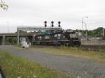 NS 3354 and sister pass under signal bridge