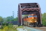 Trio of BNSF C44-9Ws With Coal Drag