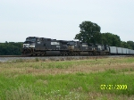 Westbound empty coal train