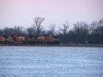 Train 223 EB at sunset