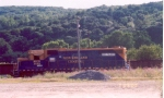 New England Central GP38 idles away in Palmer Yard.