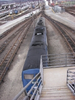 Amtrak P40 and CDOT FL9 from above.