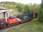 CN Pops Out From Under Goose Lake Bridge