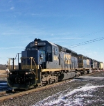 Three SD40-2's lead todays B765 train