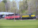 Ex-P&W Geep and an Alco RS3 at the Housatonic Yard