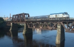 Amtrak Downeaster crossing Merrimack River