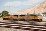 SD70-M's 380 & 4883 parked on the top end of the North Yard