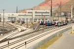 Panoramic view of the UTA Frontrunner's main yard and shop complex