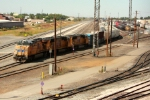 Southbound merchandiser departing the North Yard after a crew change