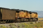 DPU's 7237 & 6825 shove 125 loads of PRB coal westbound