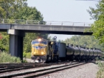 A SD70M leads this K682 south down the Riverline