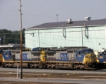 Two C40-8W's rest in the yard