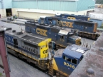 Assortment of CSX power outside the diesel shop