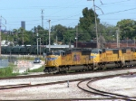 UP 4935 Leading a WB ballast train