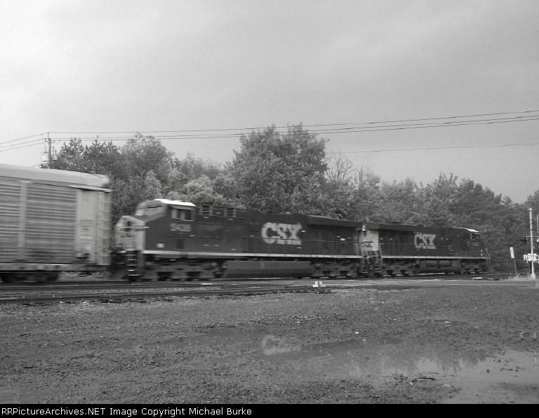 CSX #'s 5408 and 5404. Both GE ES44DC's