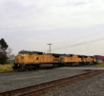 This solid Union Pacific lashup is on today's Q165 train