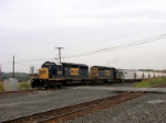 Two SD40-2's haul local train B765 westbound