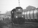 CSX #6210 in heavy rains