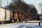 Taking the green at South Riverside and meeting a light engine move to Iron Mountain