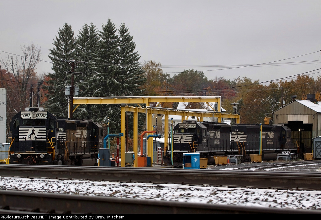SD40-2's gather at the fueling rack