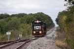 NS 5345 dropping down the hill to the Coffeen Power plant lead