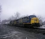 Q169 westbound in the rain