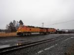 Two C44-9W's lead train Q381 westbound