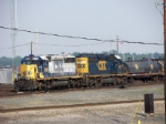Two SD40-2's working the hump