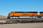 The Engineer for BNSF 6339 and BNSF 6337 waves to me as I leave the BNSF Donkey Creek Y.