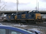CSX 2574 & 6112 Switching Intermodal at Collinwood