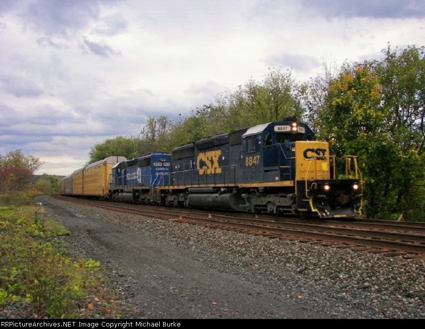 Westbound X285 passing QC-230.67