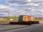 M.O.W. boxcar and spare wheels