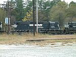 NS 3284 hides behind telephone poles