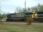 CSX 616 leads a coal train