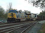 AC6000 powered coal train