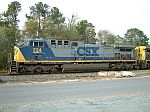 CSX 224 sitting in the siding