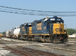 CSX 2691 & 2639 provide the power for today's Y195 east end RCO job