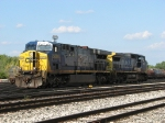 CSX 5000 & 7903 rest at the west end of the yard