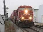 CP 8820 leads X500-28 east onto the double track