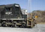 NS 6097 with Langley Fountain in backgroung
