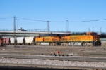 BNSF 7256 Point on Arriving Freight Train