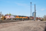 BNSF 556 Is Point On A South Bound Freight