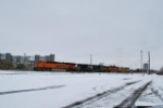 BNSF 7600 Point On Departing Freight