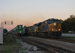 Northbound mixed freight gets rolling again after 143 gets in the hole