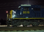 CSX 8518 with a Crescent moon