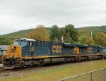 Two CSX ES44AC's idle away while waiting for an Amtrak