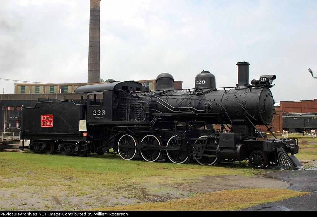 """Central of Georgia (COFG) 2-8-0 """"Consolidation"""" Steam Locomotive No. 223"""