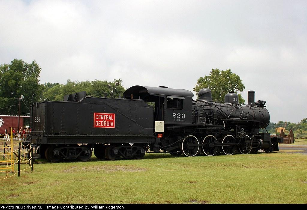 "Central of Georgia Railroad (COFG) 2-8-0 ""Consolidation"" Steam Locomotive No. 223"